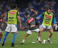 13th June 2020; Stadio San Paolo, Naples, Campania, Italy; Coppa Italia Football, Napoli versus Inter Milan; Piotr Zielinski of Napoli warms up