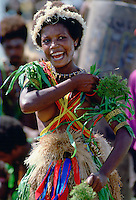 Girl at Sing Sing tribal gathering  Mount Hagen, Papua New Guinea