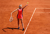 6th June 2017, Roland Garros, Paris, France; French Open tennis championships;  Timea Bacsinszky (SUI) making good progress in her game against Kristina Mladenovic (FRA)