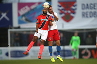 James Comley of Maidenhead and Mitch Brundle of Dagenham during Dagenham & Redbridge vs Maidenhead United, Vanarama National League Football at the Chigwell Construction Stadium on 7th December 2019