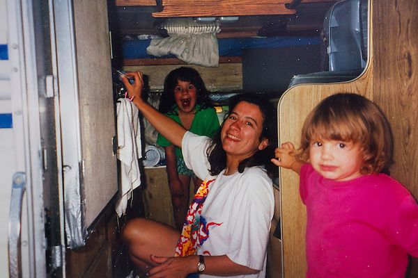 Kieffer family and the pickup camper, Colorado
