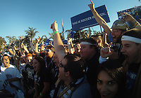 Fans of the University of Akron after the 2010 College Cup final against the University of Louisville at Harder Stadium, on December 12 2010, in Santa Barbara, California. Akron champions, 1-0.
