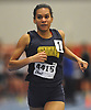 Katherine Lee of Shoreham-Wading River legs out a win in the girls 1,000 meter run during the Suffolk County winter track and field state qualifiers at Suffolk Community College Grant Campus in Brentwood on Monday, Feb. 12, 2018.
