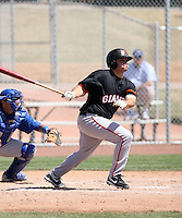 Tyler La Torre, San Francisco Giants 2010 minor league spring training..Photo by:  Bill Mitchell/Four Seam Images.