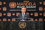 Opening Plenary Meeting of the Nelson Mandela Peace Summit<br /> <br /> . His Excellency Vivian BALAKRISHNAN &quot;Minister for Foreign Affairs of Singapore(on behalf of the Association of Southeast Asian Nations)