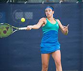 June 13th 2017, Nottingham, England; WTA Aegon Nottingham Open Tennis Tournament day 4;  Forehand from Anastasija Sevastova of Latvia