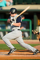Charlotte designated hitter Brian Anderson (20) follows through on his swing versus Louisville at Louisville Slugger Field in Louisville, KY, Tuesday, June 5, 2007.