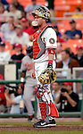 19 May 2007: Washington Nationals catcher Brian Schneider during a break in the action against the Baltimore Orioles at RFK Stadium in Washington, DC. The Orioles defeated the Nationals 3-2 in the second game of the 3-game interleague series...Mandatory Photo Credit: Ed Wolfstein Photo