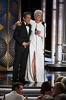 Ben Stiller and Jamie Lee Curtis present at the 76th Annual Golden Globe Awards at the Beverly Hilton in Beverly Hills, CA on Sunday, January 6, 2019.<br /> *Editorial Use Only*<br /> CAP/PLF/HFPA<br /> Image supplied by Capital Pictures