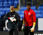 Jake Eastwood of Sheffield Utd and Jamal Blackman of Sheffield Utd during the Championship match at the Macron Stadium, Bolton. Picture date 12th September 2017. Picture credit should read: Simon Bellis/Sportimage