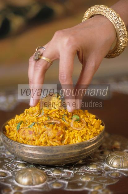 """Asie/Inde/Rajasthan/Udaipur: Hotel """"Taj Lake Palace"""" sur le lac Pichola - Recette de poulet biryani"""