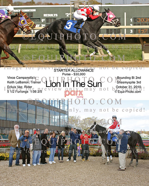 Winning photos at Parx Racing.