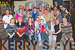 60TH BIRTHDAY: Benny O'Sullivan, Kevin Barry Villas, Tralee (seated centre) enjoying a great time celebrating his 60th birthday with family and friends at the Slieve Mish bar, Tralee on Friday. ..