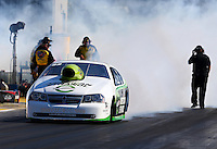 Sep 27, 2013; Madison, IL, USA; NHRA pro stock driver Deric Kramer during qualifying for the Midwest Nationals at Gateway Motorsports Park. Mandatory Credit: Mark J. Rebilas-