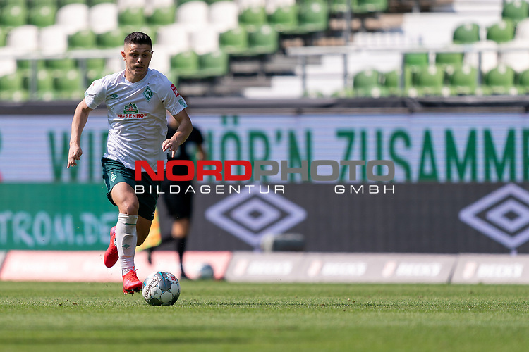 Milot Rashica (Werder Bremen #07)<br /> <br /> <br /> Sport: nphgm001: Fussball: 1. Bundesliga: Saison 19/20: 34. Spieltag: SV Werder Bremen vs 1.FC Koeln  27.06.2020<br /> <br /> Foto: gumzmedia/nordphoto/POOL <br /> <br /> DFL regulations prohibit any use of photographs as image sequences and/or quasi-video.<br /> EDITORIAL USE ONLY<br /> National and international News-Agencies OUT.