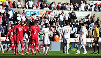 sport...swansea v southampton...liberty stadium...saturday 20th april 2013....<br /> <br /> <br /> Handshakes after Swansea drew 0-0 with Southampton