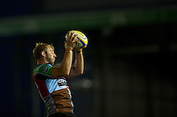 Chris Robshaw of Harlequins secures the lineout during the Aviva Premiership match between Harlequins and London Welsh at the Twickenham Stoop on Friday 7th September 2012 (Photo by Rob Munro)
