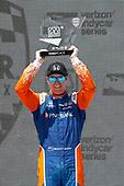Scott Dixon, Chip Ganassi Racing Honda, podium