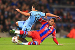 Mehdi Benatia of Munich brings down Sergio Aguero of Manchester City to earn a red card - Manchester City vs. Bayern Munich - UEFA Champion's League - Etihad Stadium - Manchester - 25/11/2014 Pic Philip Oldham/Sportimage