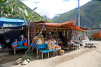 A FRUIT AND VEGEATABLE MARKET IN SANTA TERESA,PERU