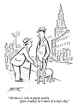 """""""He doesn't take to people readily. Quite frankly, he's more of a dog's dog."""""""