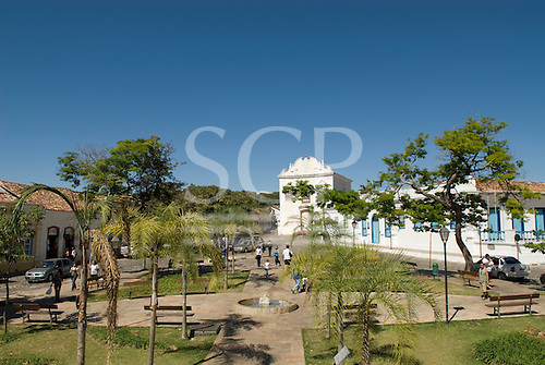 Goias Velho, Brazil. Well preserved colonial town; colonial architecture.