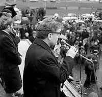 The St. Patrick's Day Parade makes its way down High Street and onto Main Street in 1978. Photo shows Bishop Kevin McNamara addressing the crowd..Picture by Don MacMonagle .www.macmonagle.com