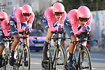 EF Education First in action during Stage 1 of La Vuelta 2019, a team time trial running 13.4km from Salinas de Torrevieja to Torrevieja, Spain. 24th August 2019.<br /> Picture: Luis Angel Gomez/Photogomezsport | Cyclefile<br /> <br /> All photos usage must carry mandatory copyright credit (© Cyclefile | Luis Angel Gomez/Photogomezsport)