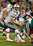 7 December 2008: Miami Dolphins' quarterback Chad Pennington in action during the first regular season NFL game ever played in Canada. The Dolphins defeated the Buffalo Bills 16-3 at the Rogers Centre in Toronto, Ontario. ..Mandatory Photo Credit: Ed Wolfstein Photo