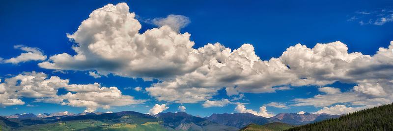 Panoramic of mountains near Vail, Colorado