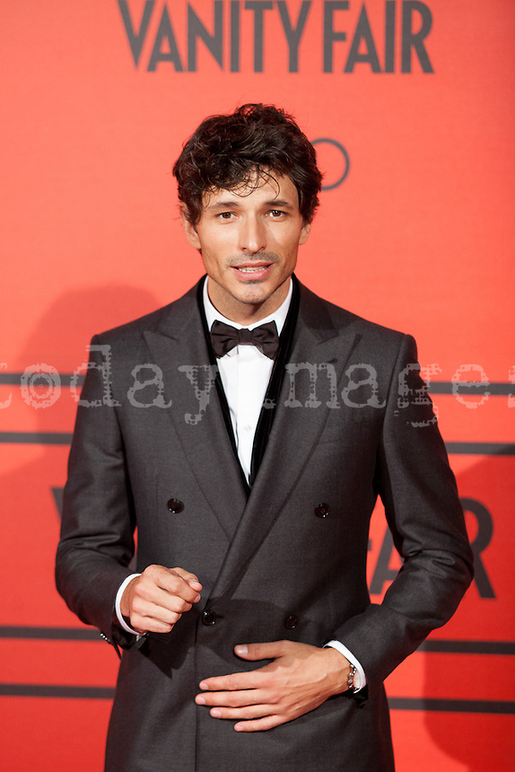 Andres Valencoso during the photocall of Vanity Fair 5th Anniversary party In Madrid