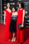 Melina Matthews, Olivia Delcan and Miranda Gas during the Blood Red Carpet at Festival de Cine Fantastico de Sitges in Barcelona. October 12, Spain. 2016. (ALTERPHOTOS/BorjaB.Hojas)