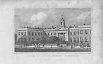 Asylum for Female Orphans, Westminster, engraving 'Metropolitan Improvements, or London in the Nineteenth Century' London, England, UK 1828