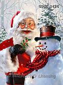 Dona Gelsinger, CHRISTMAS SANTA, SNOWMAN, paintings+++++,USGE1426,#x#