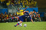 (L to R) <br /> Pablo Armero (COL), <br /> Keisuke Honda (JPN), <br /> JUNE 24, 2014 - Football /Soccer : <br /> 2014 FIFA World Cup Brazil <br /> Group Match -Group C- <br /> between Japan 1-4 Colombia <br /> at Arena Pantanal, Cuiaba, Brazil. <br /> (Photo by YUTAKA/AFLO SPORT)
