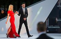 Berlin,Montag (29.04.13), die Schauspieler Zachary Quinto und Alice Eve bei der Deutschlandpremiere des Films The Darkness aus der Star-Trek-Reihe. Foto: Michael Gottschalk/CommonLens