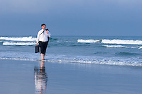 Business Man, on the beach, Stone Harbor, New Jersey