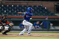 AZL Rangers shortstop Yonny Hernandez (59) at bat against the AZL Giants on September 4, 2017 at Scottsdale Stadium in Scottsdale, Arizona. AZL Giants defeated the AZL Rangers 6-5 to advance to the Arizona League Championship Series. (Zachary Lucy/Four Seam Images)
