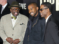 NEW YORK CITY, NY, USA - DECEMBER 03: Cedric the Entertainer, Kanye West, Chris Rock arrive at the New York Premiere Of 'Top Five' held at the Ziegfeld Theatre on December 3, 2014 in New York City, New York, United States. (Photo by Celebrity Monitor)