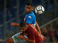 Faouzi Ghoulam  during the  italian serie a soccer match, AS Roma -  SSC Napoli       at  the Stadio Olimpico in Rome  Italy , 14 ottobre 2017