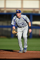 Indiana State Sycamores first baseman Jeff Zahn (35) during a game against the Vanderbilt Commodores on February 20, 2015 at Charlotte Sports Park in Port Charlotte, Florida.  Vanderbilt defeated Indiana State 3-2.  (Mike Janes/Four Seam Images)