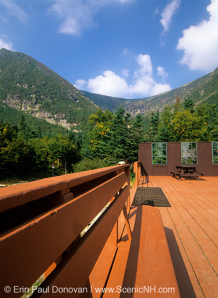 Tuckerman Ravine from the Ranger Station (known as Ho / Jos) just below the bowl of Tuckerman Ravine in Sargent's Purchase in the New Hampshire White Mountains.