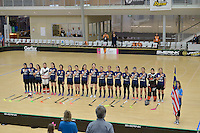 World Floorball Championships 2017 Qualification for Asia Oceania Region - Malaysia v China at ASB Sports Centre , Wellington, New Zealand on Sunday 5 February 2017.<br /> Photo by Masanori Udagawa<br /> www.photowellington.photoshelter.com.