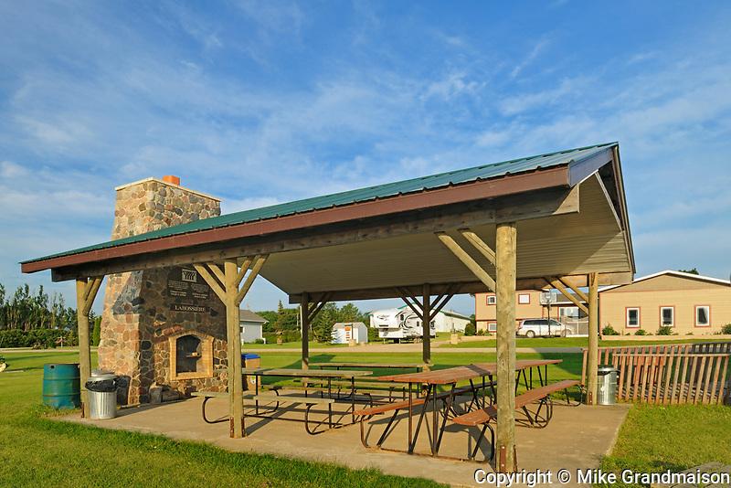 Labossière Monument  and  picnic shelter, Saint Leon, Manitoba, Canada