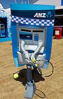 Tennis playing ATM machine at Melbourne Park..International Tennis - Australian Open Tennis -  Tues 26  Jan 2010 - Melbourne Park - Melbourne - Australia ..© Frey - AMN Images, 1st Floor, Barry House, 20-22 Worple Road, London, SW19 4DH.Tel - +44 20 8947 0100.mfrey@advantagemedianet.com