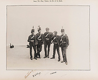 BNPS.co.uk (01202 558833)<br /> Pic: ForumAuctions/BNPS<br /> <br /> Pictured: Actors playing soldiers in the 1920 production.<br /> <br /> Charming previously unseen photos of a university's historic Thomas Hardy's production have come to light a century later.<br /> <br /> They show the performance of his play 'The Dynasts' by the Oxford Union Dramatic Society in 1920.<br /> <br /> It was the first time the prestigious society, which was founded in 1885, staged a play by a living author.<br /> <br /> The large ensemble cast can be seen in costume performing various scenes from Hardy's epic Napoleonic Wars drama which was published in three parts in 1904, 1905 and 1908.<br /> <br /> Hardy was a distant relative of Captain Thomas Hardy, who served with Admiral Nelson at the Battle of Trafalgar.