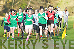 Kerry Anne Fincane Colaiste na Sceilige leads the girls during the to lead the junior girls race at the Kerry Colleges Cross Country chamipionships in Killarney on Friday