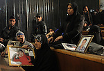 Egyptian relatives of victim in the case of last year's soccer violence in Port Said, attends their tria at a court, in Cairo, Egypt, on Nov. 24. 2014. The case of last year's soccer violence in Port Said which left over 70 dead. Photo by Stringer