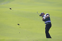 Fabrizio Zanotti (PAR) plays his 2nd shot on the 9th hole during Sunday's Final Round of the 2014 BMW Masters held at Lake Malaren, Shanghai, China. 2nd November 2014.<br /> Picture: Eoin Clarke www.golffile.ie