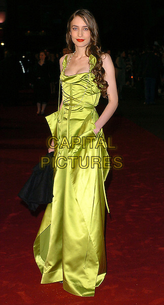 "ELIZABETH JAGGER.""King Kong"" UK film premiere at Leicester Square, London, UK..December 8th, 2005.Ref: CAN.full length green dress .www.capitalpictures.com.sales@capitalpictures.com.©Capital Pictures"